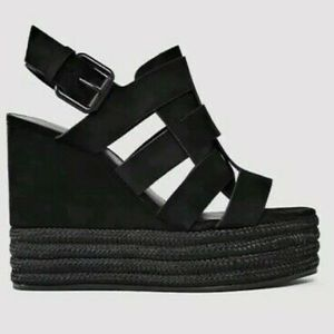 $415~ALL SAINTS~Suede MARZEE Platform Wedge~9.5/10
